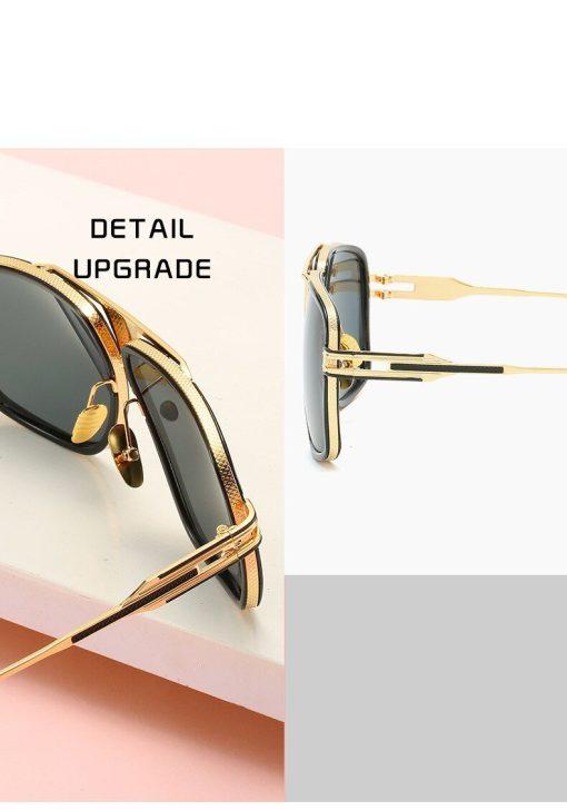 Classic Oversized Men Sunglasses Men Luxury Brand Designer Retro Vintage Square Sun Glasses Oculos de sol Male UV400 Mirror