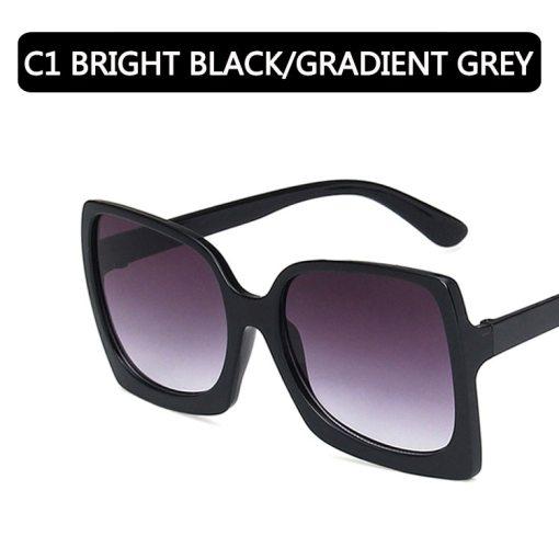 2020 Fashion Oversized Sunglasses Women Brand Designer Plastic Female Big Frame Gradient Sun Glasses UV400 gafas de sol mujer