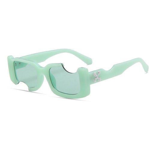 2021 new men retro sunglasses men's fashion white sunglasses blue ladies sunglasses shadow retro white glasses