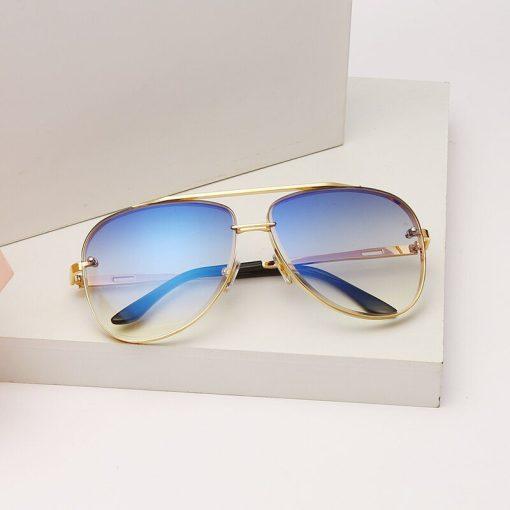 New Fashion Sunglasses Luxury Brand Designer Women Men Vintage Metal Sun glasses Retro Sunglass UV400 Shades gafas de sol