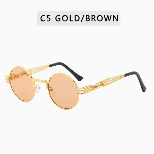 New Round Metal Frame Sunglasses UV400