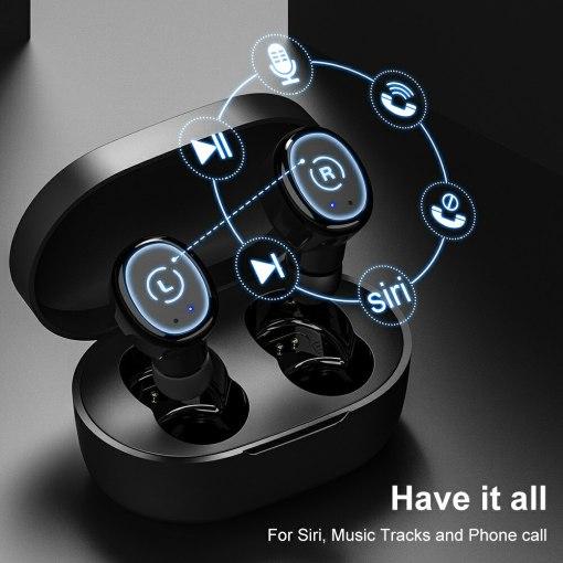 Original TWS 5.0 Bluetooth Earphones Sport Headphones Stereo Sound True Wireless Ear buds With HIFI MIC Headset For Smart Phone