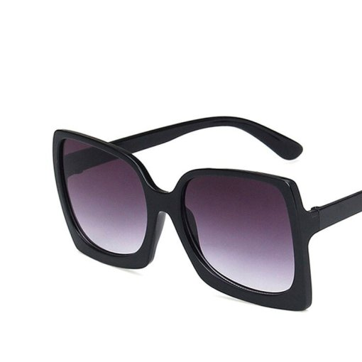 Oversized sunglasses with square frame Gradient
