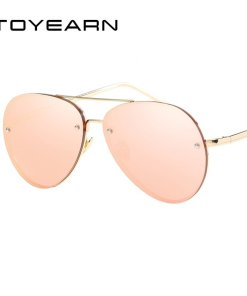 2020 New Fashion Brand Design Vintage Rimless Pilot Sunglasses Women Men Retro Clear Lens Coating Mirror Sun Glasses for Female