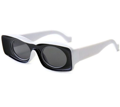 White Blaze Clubmaster Square Frame Sunglasses