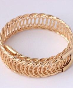 hammered gold link bracelet