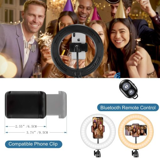 LED Photography Fill Lighting with Tripod Stand Camera Photo Studio Circle Led Selfie Ring Light Phone Lamp Video Youtube
