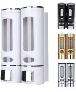Wall-Mount Shower Bath Shampoo Dispenser, Liquid Soap Container