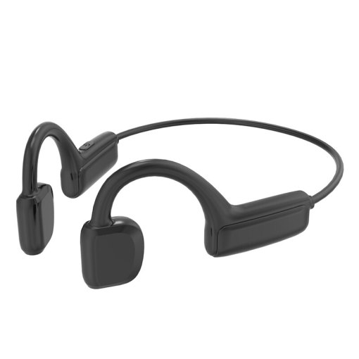 True Bone Conduction Earphone Waterproof Wireless Bluetooth Headphone with Microphone Sports Not-In Ear Headset for Android Ios