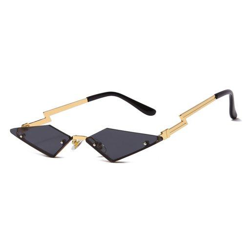 Fashion Cat Eye Sunglasses Luxury Brand Designer Women Metal Rimless Sun glasses Lady Trend Sunglass UV400 Shades Eyewear