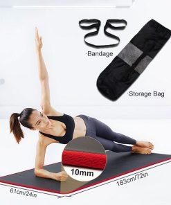 10mm Non-Slip Yoga Mat 183cm*61cm Thickened NBR Gym Mats Sports Indoor Fitness Pilates Yoga Pads коврик для йоги esterilla yoga