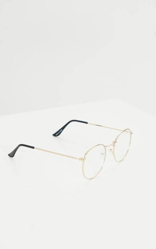 Blue Screen Round Metal Reading Glasses