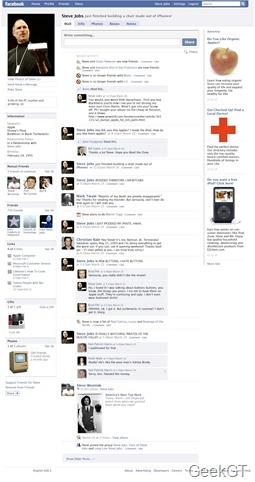 Perfil de Facebook de Steave Jobs