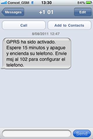 Activar el GRPS de un SIM