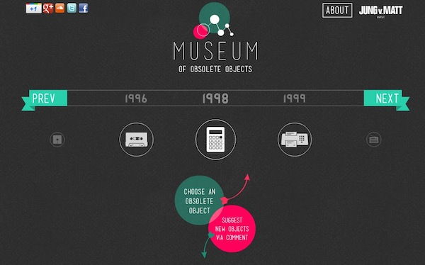 El Museo Virtual de los Objetos Obsoletos