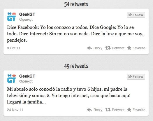 My Top Tweets de GeekGt