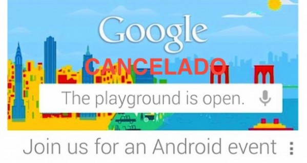 Evento Google Cancelado