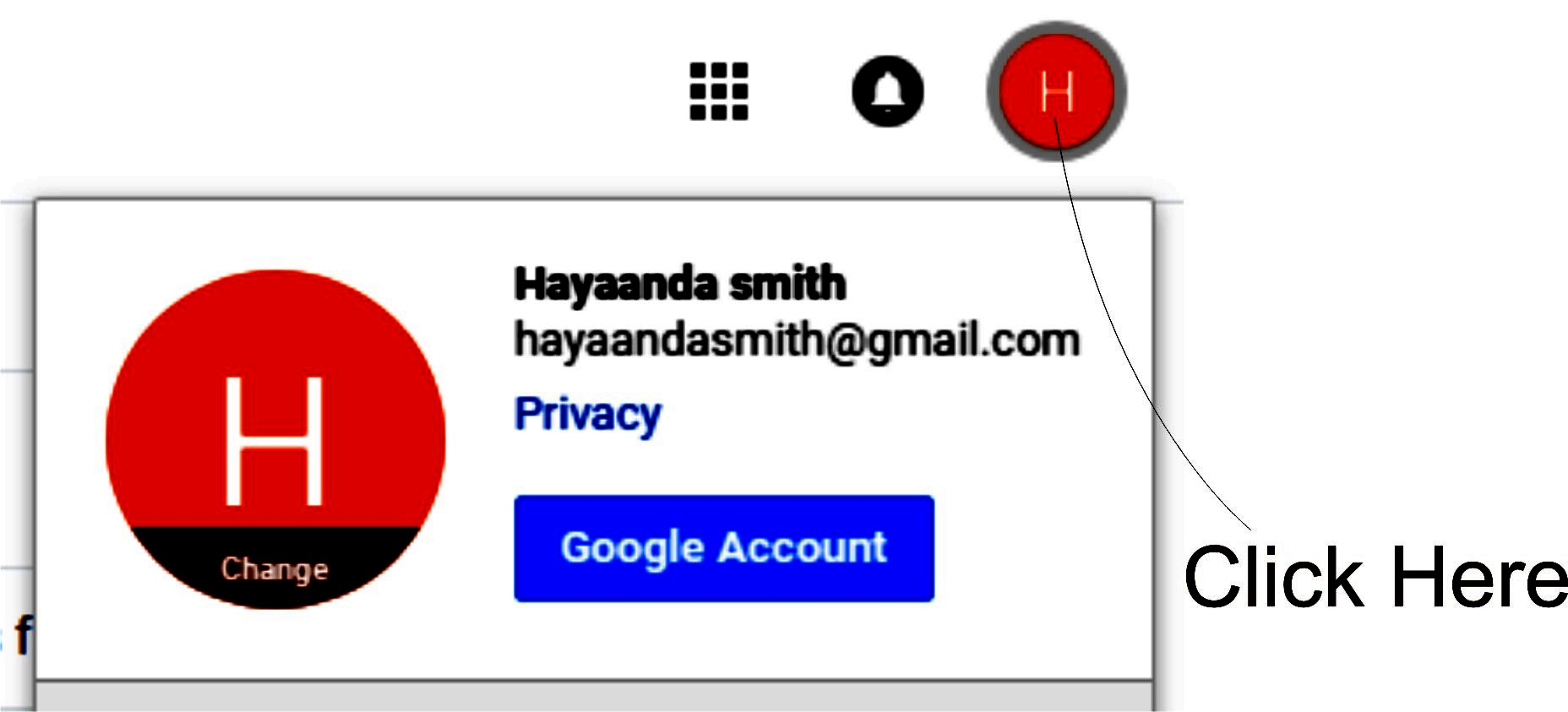 Change Google Account Picture