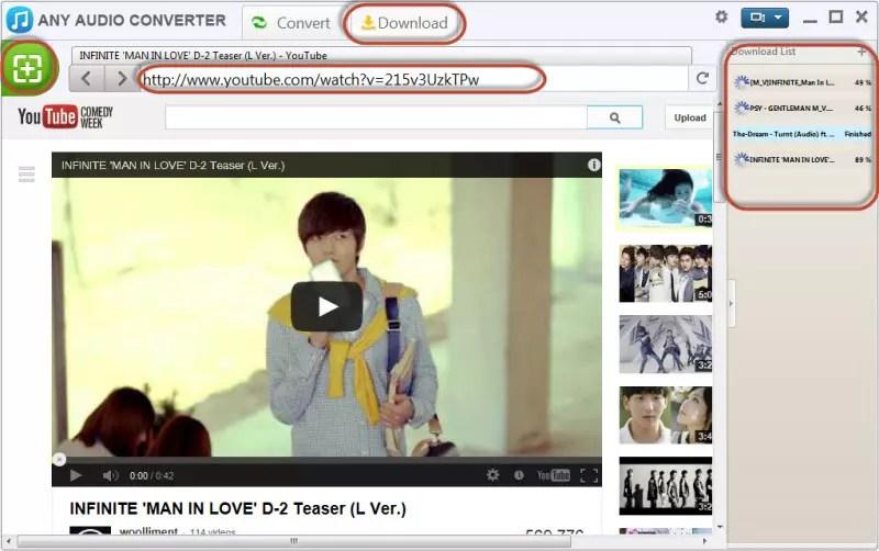 Opbevaring Links Video i Eventuel Video Converter Program