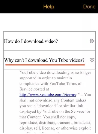 "Downloading video from YouTube on iPhone is impossible in ""My Video Downloader"""