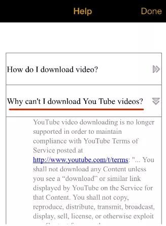 """Hämtar video från YouTube på iPhone är omöjligt i """"Min Video Downloader"""""""