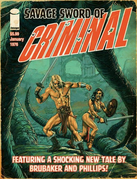 Savage Sword of Criminal is yet another piece of noir goodness from the dynamic duo of Brubaker and Phillips.