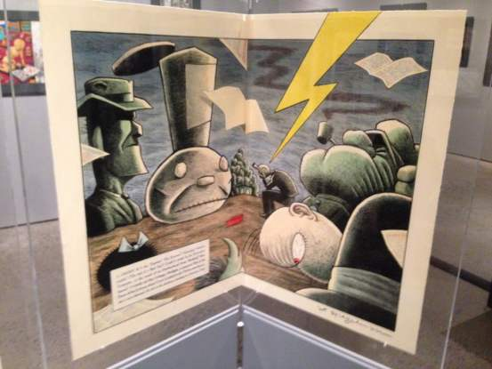 The last day  of Art Spiegelman's CO-MIX at the AGO is March 15th. Go check it out this week.