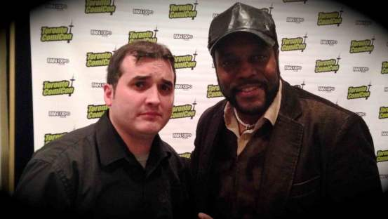Andrew hanging with Chad Coleman at Toronto ComiCon