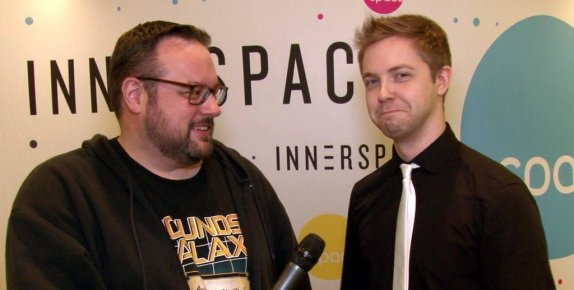 Mr. Green pokes fun at Ajay's signature skinny tie in Geek Hard's latest round with InnerSpace.