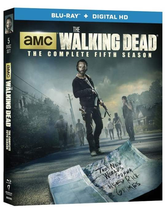 The Walking Dead: The Complete Fifth Season is now available on DVD and Blu-ray.