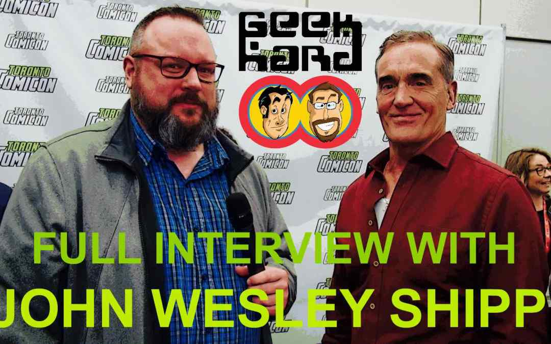 Geek Hard Presents: An Interview with John Wesley Shipp