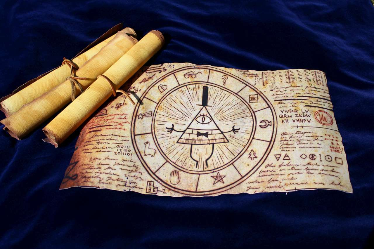 Gravity Falls Inspired Magical Bill Cipher Scroll