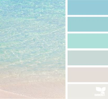 colour palette: crystal clear