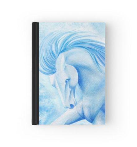 aquamarine horse notebook