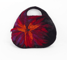 Black Felted Bag