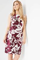 Burgundy Online Exclusive Satin Printed Dress