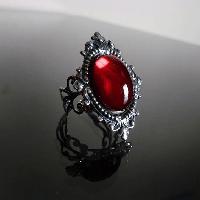 Ruby Red Ornate Filigree Steampunk Ring