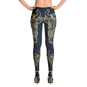 Taurus Blue Gold Leggings