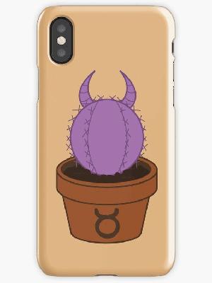 Taurus cactus iphone case