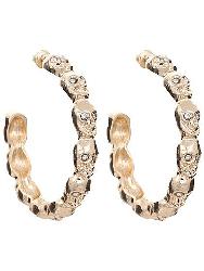 Gold Toned skull hoop earrings