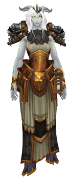 Libra: Goddess of Justice Transmog set - Front View sheathed