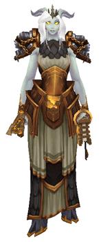 Libra: Goddess of Justice Transmog set - Front View