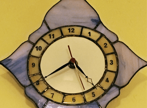 10 Things you probably don't know about me -  Stained Glass clock by my grandfather