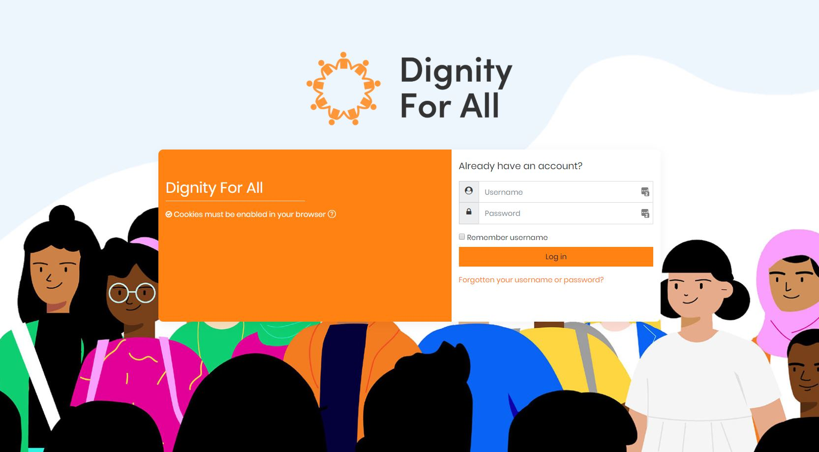 2019-05-24 13_07_19-Dignity For All_ Log in to the site