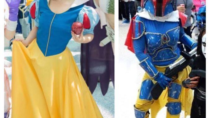 Amber Arden as Snow White and Snoba Fett