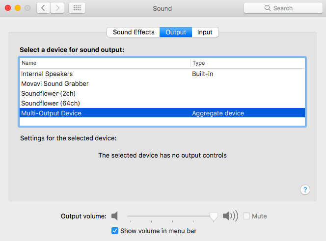 Sound on a Mac