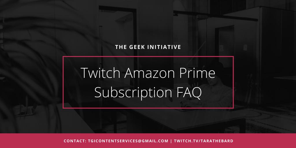 free twitch prime sub