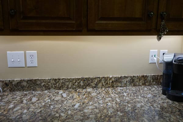 Technolamp LED WiFi Lighting Installed Underneath Counter