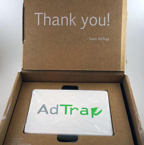 AdTrap Opening of the Box