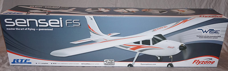 flyzone_sensei_fs_rtf_airplane_front_of_box